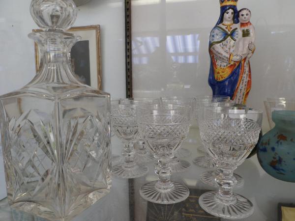 verres et carafe en cristal saint louis le coup de coeur brocante. Black Bedroom Furniture Sets. Home Design Ideas