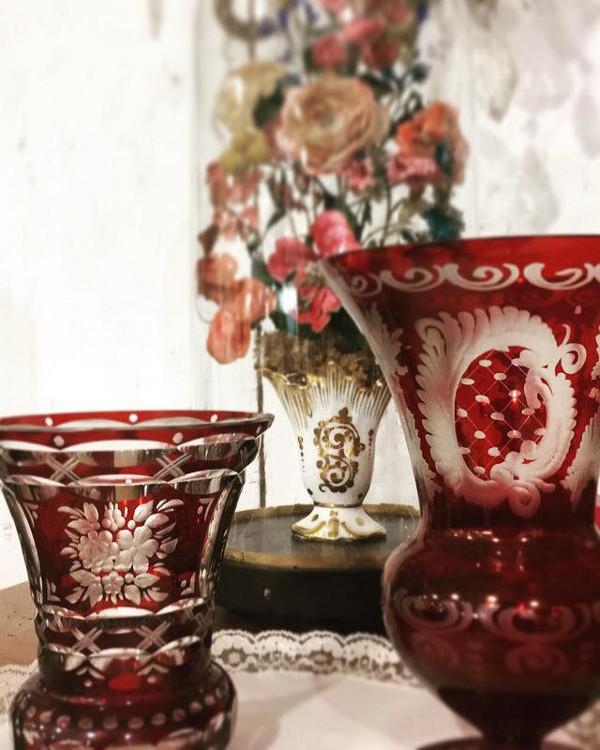 Vases en cristal de Bohème